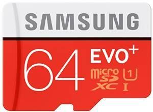 Carte mémoire microSDXC Samsung EVO Plus Classe 10 - 64 Go avec adaptateur SD
