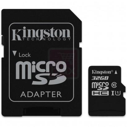 Lot de 2 cartes microSDHC Kingston Classe 10 - 32 Go avec adaptateur SD
