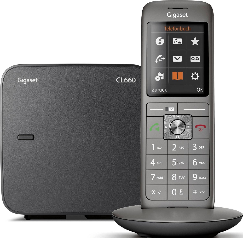 Téléphone fixe sans-fil Gigaset CL660 Solo - gris