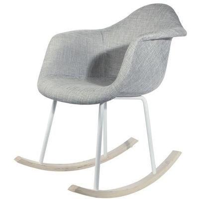 Fauteuil à bascule Lullaby - 63x75x83 cm, gris