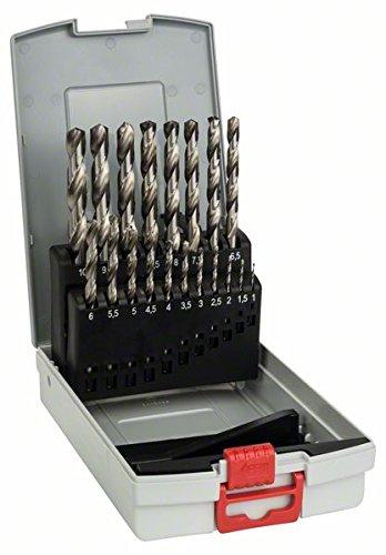 Jeu de forets Bosch Professional Probox de forets à métaux rectifié HSS-G (19 pièces)