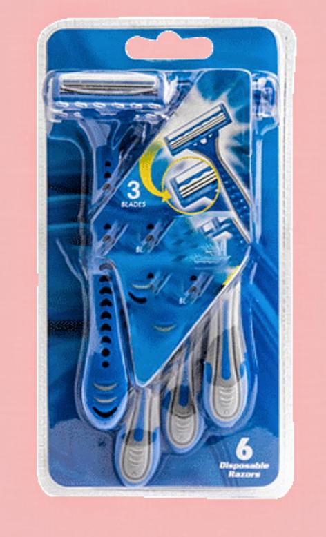 Sélection de produits en promotion - Ex: Paquet 6 rasoirs + 3 lames