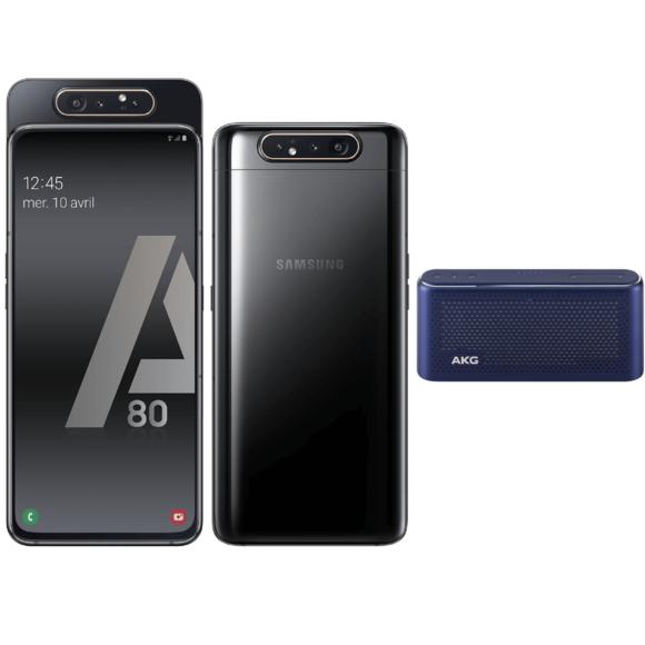 "Smartphone 6.7"" Samsung Galaxy A80 - 128 Go + Enceinte AKG S30 - Bleue"