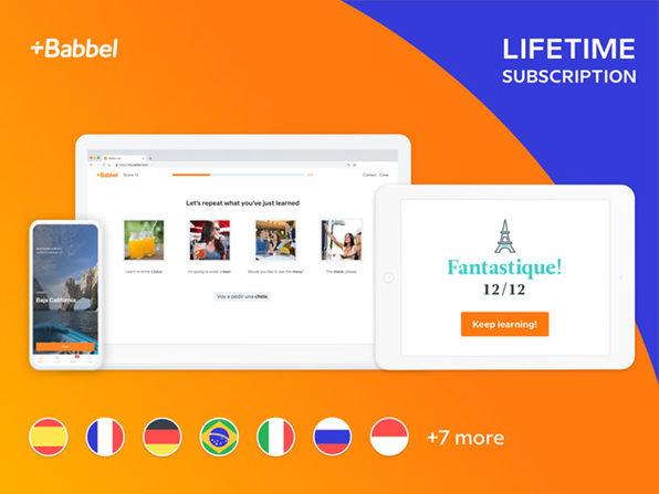 Abonnement Babbel à vie - Tous les langages inclus
