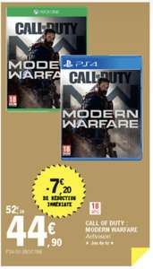 Call of Duty Modern Warfare sur PS4 ou Xbox One