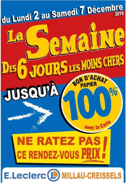 Jusqu'à 100% remboursés en tickets E.Leclerc sur une sélection d'articles - Creissels (12)