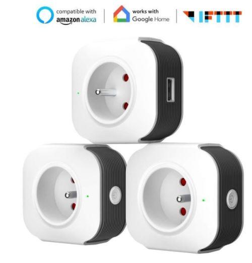 Lot de 3 Prises connectées Muzili - Wifi (Vendeur Tiers)
