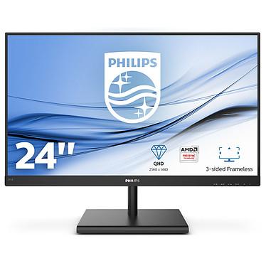"""Ecran LED 24"""" Philips 245E1S - 2560 x 1440 pixels, Dalle IPS, 75 Hz, 4 ms (139,45€ avec le code CYBER)"""