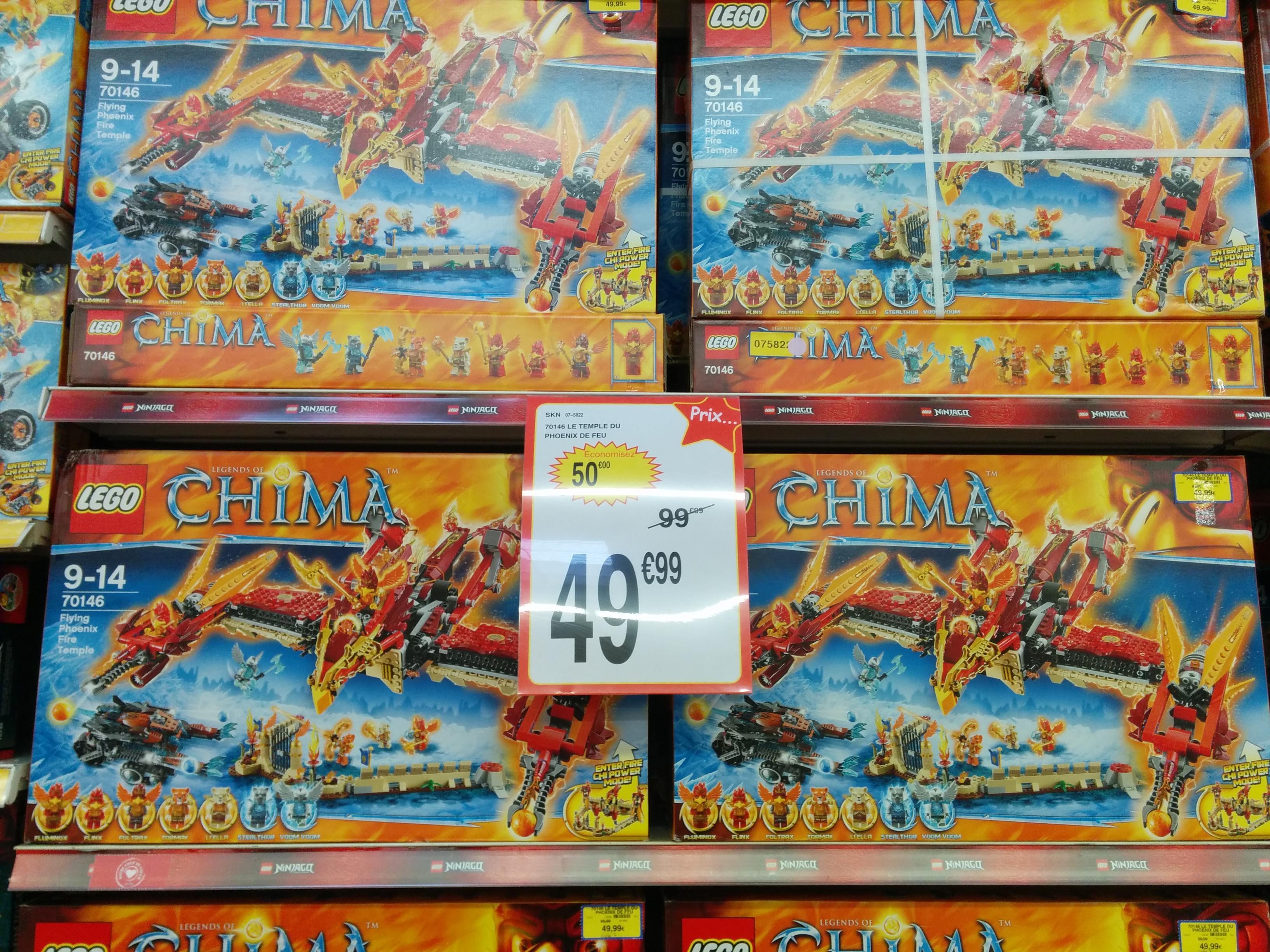 Lego Chima 70146 - Le temple du Phoenix de Feu