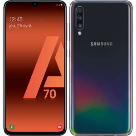 "Smartphone 6.7"" Samsung Galaxy A70 - full HD+, SnapDragon 675, 6 Go de RAM, 128 Go, noir"