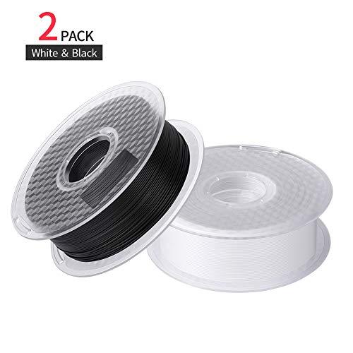 Lot de 2 Bobines Filament PLA pour imprimante 3D Sovol 1.75 mm, Noir et blanc (vendeur tiers)