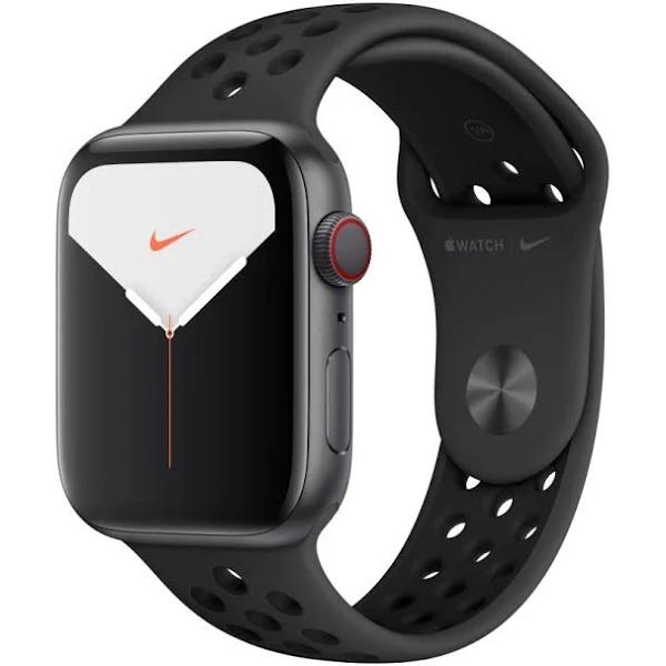 Montre connectée Apple Watch Nike Series 5 - 44mm, GPS avec Bracelet Nike (400€ avec le code CYBMO1460)
