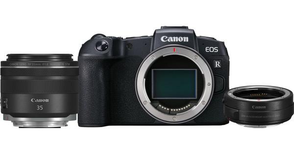Appareil photo hybride Canon EOS RP + objectif RF 35/1.8 + adaptateur (audiophil-foto.de)
