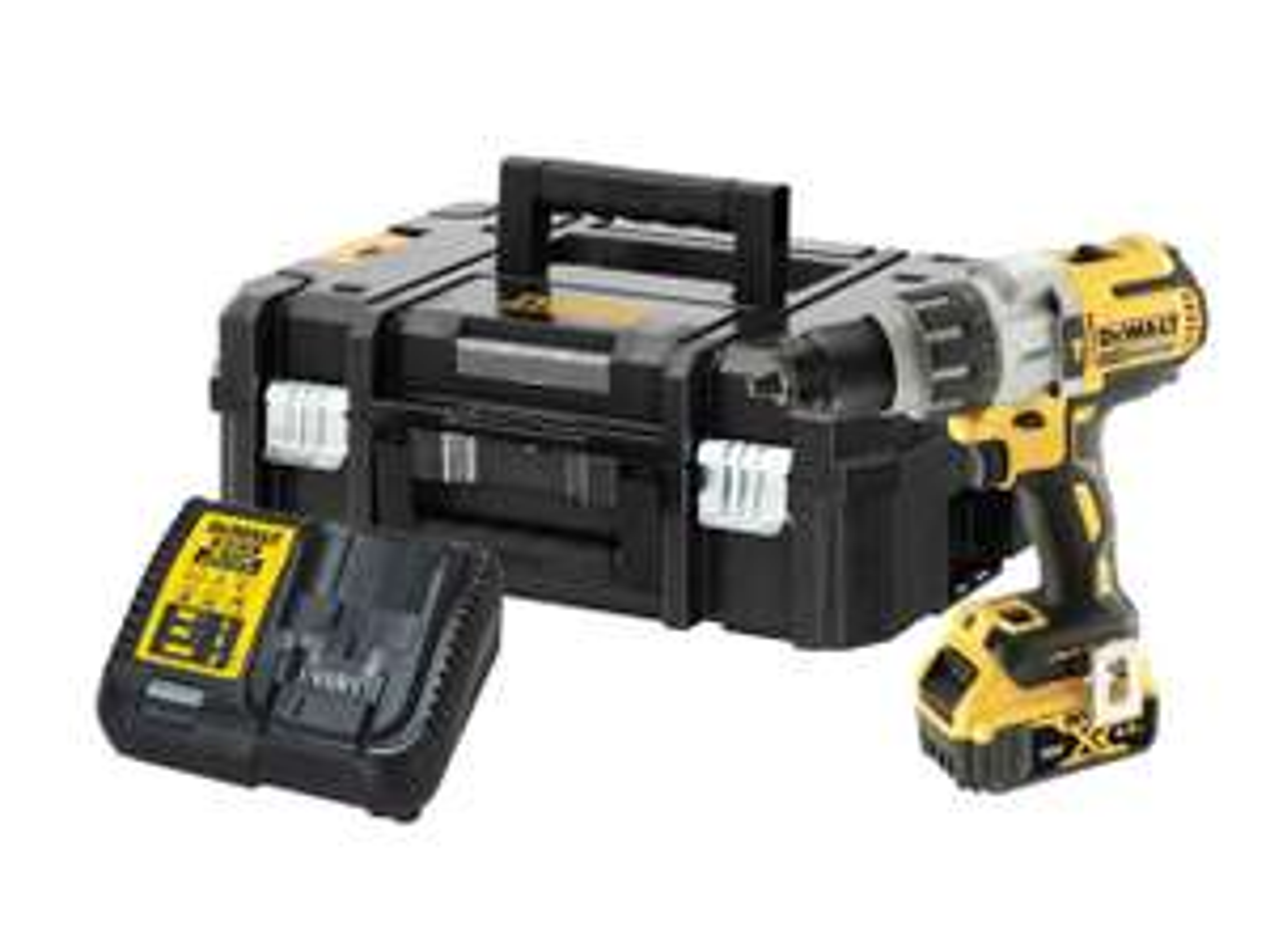 Kit Dewalt DCD996 DCD996M1 18v 1x4.0Ah XR Li-Ion Brushless Combi Drill (ffx.co.uk)