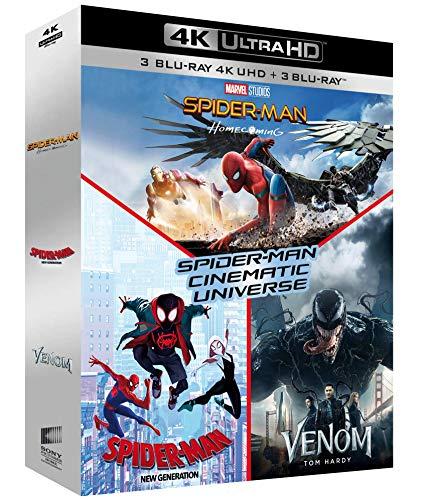 Coffret Blu-ray 4K UHD Cinematic Universe - Homecoming + Spider-Man New Generation + Venom