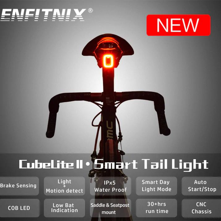 Lumière arrière pour vélo Enfitnix Cubelite 2