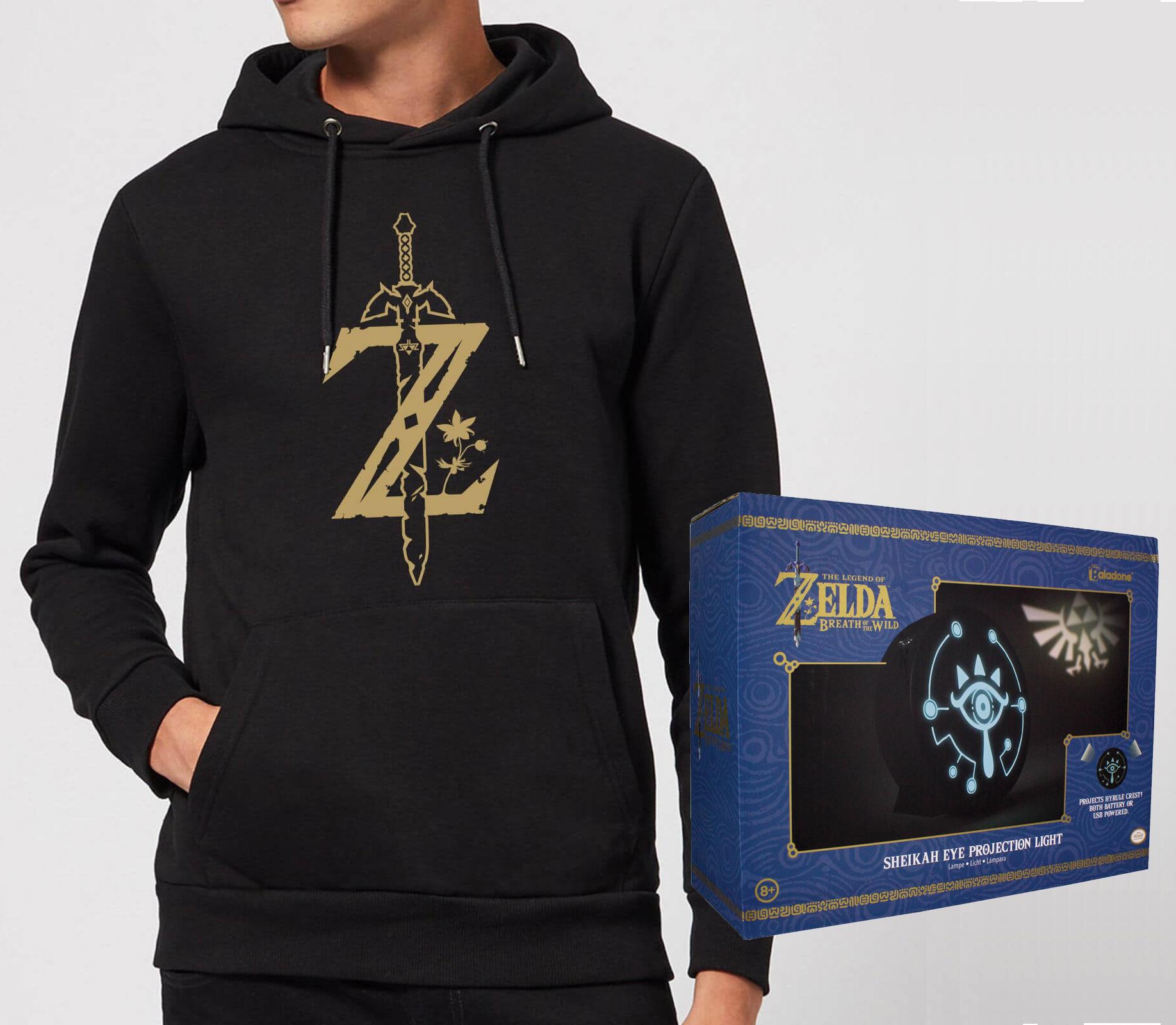 Sweat-shirt Zelda (S au XXL) + Lampe The Legend of Zelda : Breath of the Wild