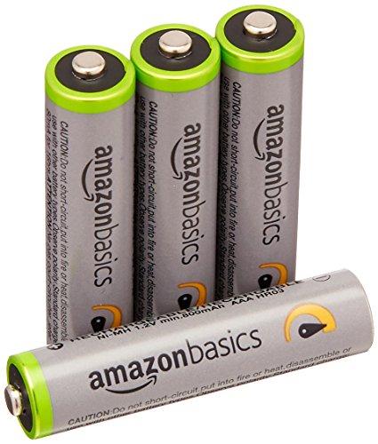 Lot de 4 piles rechargeables AmazonBasics Ni-MH Type AAA
