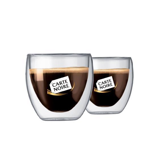 2 verres à café Bodum Carte Noire 25cl pour 20 étoiles + Livraison gratuite