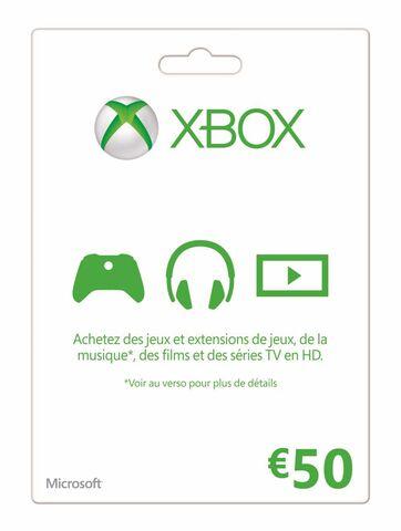 Carte Xbox Live d'une valeur de 50€ - Noisy le Grand (93)