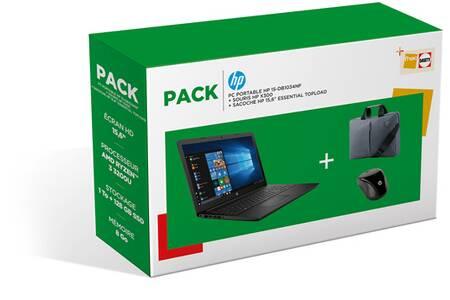 """PC Portable 15.6"""" HP 15-DB1034NF - AMD Ryzen 3 3200U RAM 8 Go, 1 To HDD + 128 Go SSD"""