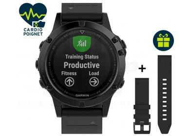 Montre GPS Garmin Fenix 5 + Bracelet cuir