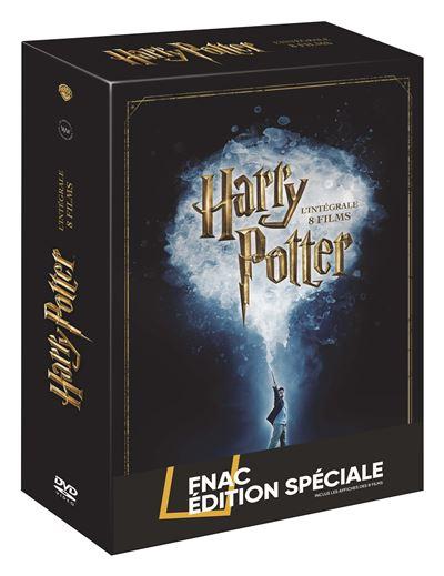 Coffret DVD Harry Potter L'intégrale des 8 films Edition spéciale Fnac - Inclus les affiches des films