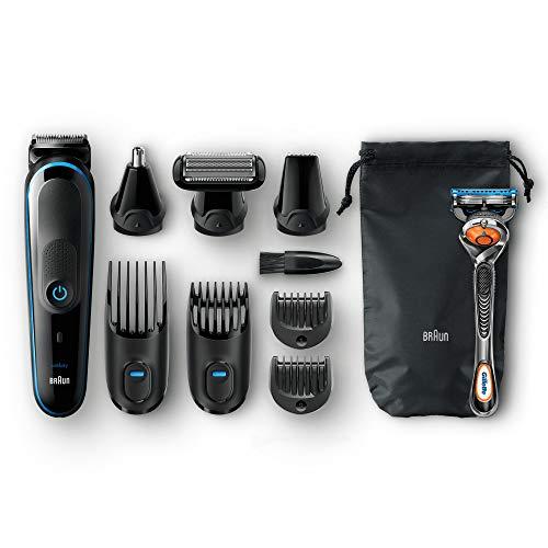 Pack Tondeuse à barbe / cheveux + rasoir Braun MGK5080