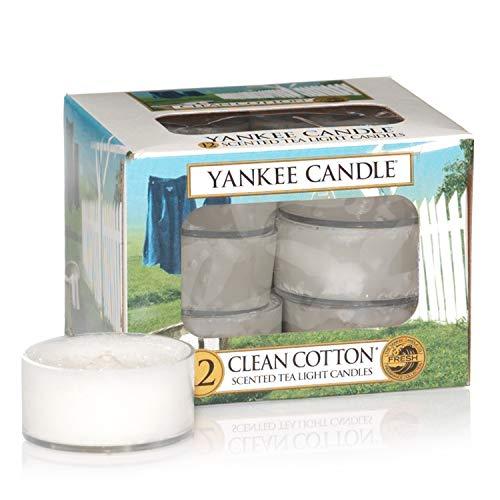Lot de 12 Lumignons Parfumés Clean Cotton Yankee Candle
