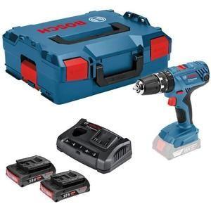 Perceuse visseuse à percussion Bosch Professional GSB18V-21 - 2 batteries 18 V 2 Ah Li-ion, Coffret L-boxx (Vendeur Tiers)