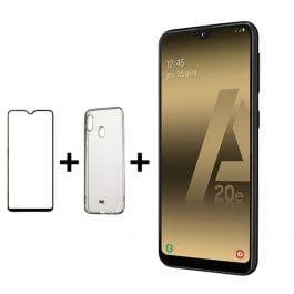 """Smartphone 5.8"""" Samsung A20E - 32 Go + Coque et verre trempé"""
