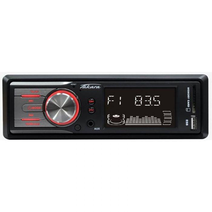 Autoradio Takara RDU1705 - 4 x 15W, SD/USB/AUX, Sans CD