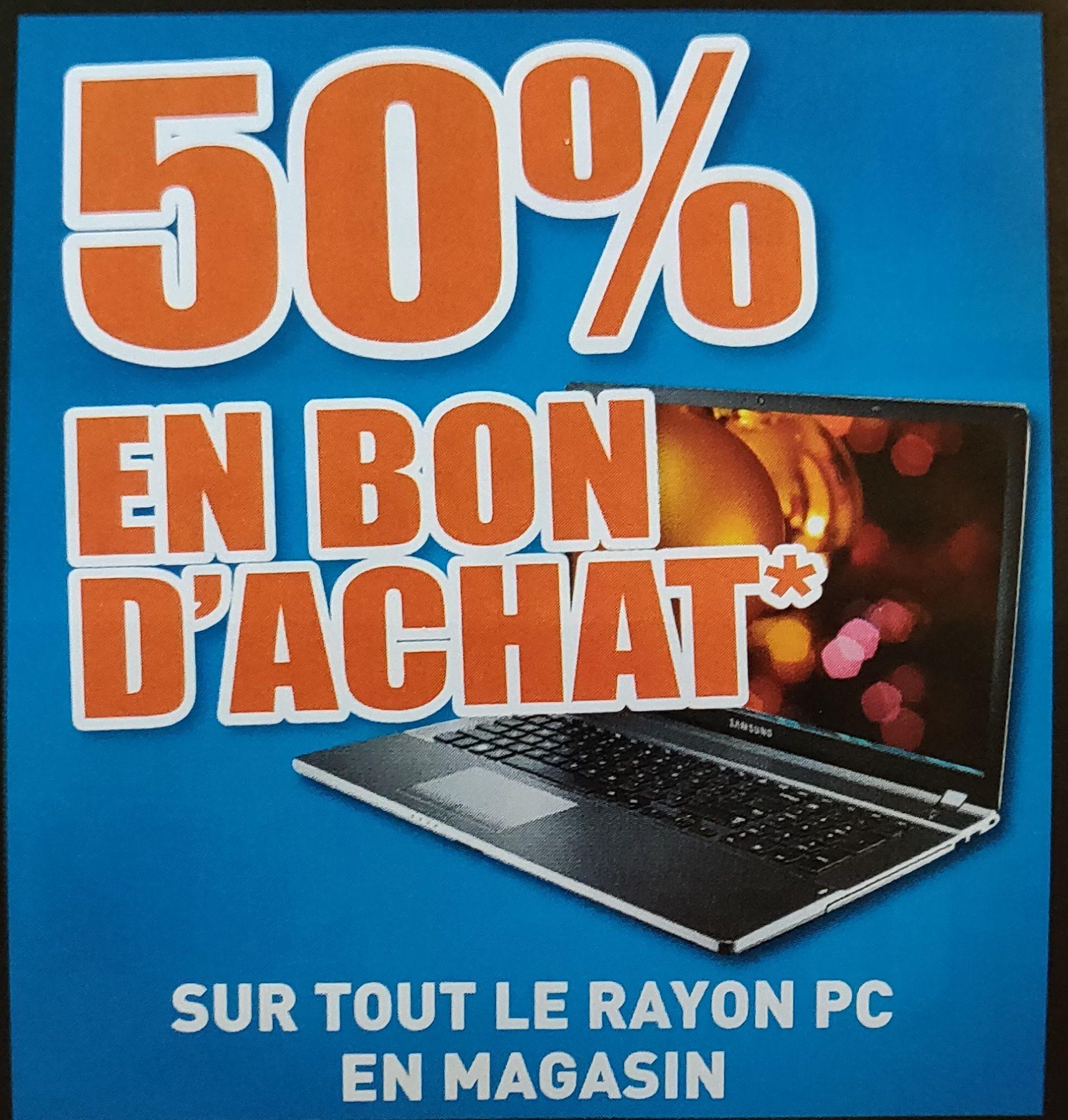 50% de réduction sur les PC sous forme de 2 bons d'achat - Scaër (29)