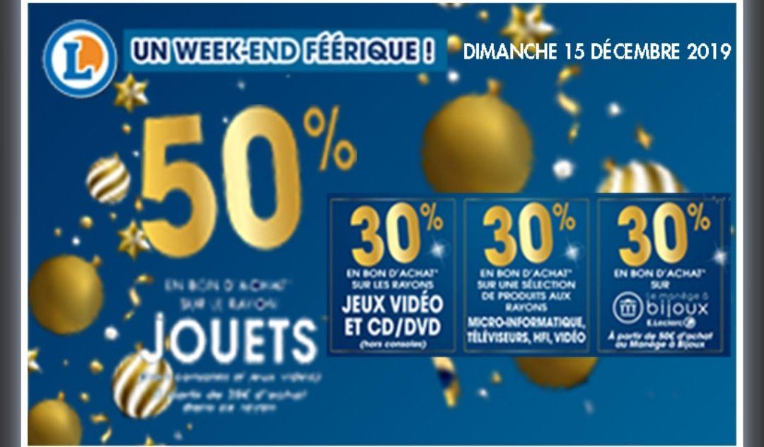 Sélections de Bons d'achat - Ex: 50% offerts en bons d'achat sur le rayon Jouet dès 30€ - Rueil-Malmaison / Nanterre (92)