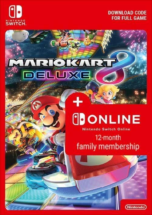 Jeu Mario Kart 8 Deluxe + 1 an d'abonement Online sur Nintendo Switch (Dématérialisé)