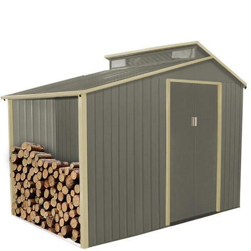 80€ de remise dès 250€ d'achat sur tout le site - Ex : Abri de jardin métal avec range-bûches 3.14 m2 + Kit d'ancrage