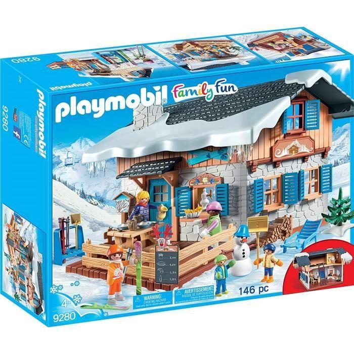 Jeu de construction Playmobil Family Fun - Chalet de Montagne avec Skieurs (9280)