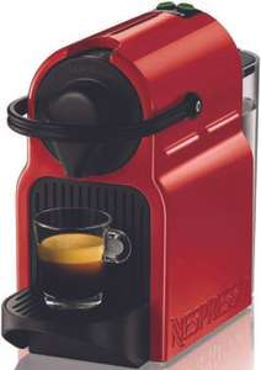 Cafetière à dosettes Nespresso Inissia Krups YY1531FD - Rouge rubis (via 20€ sur la carte fidélité)
