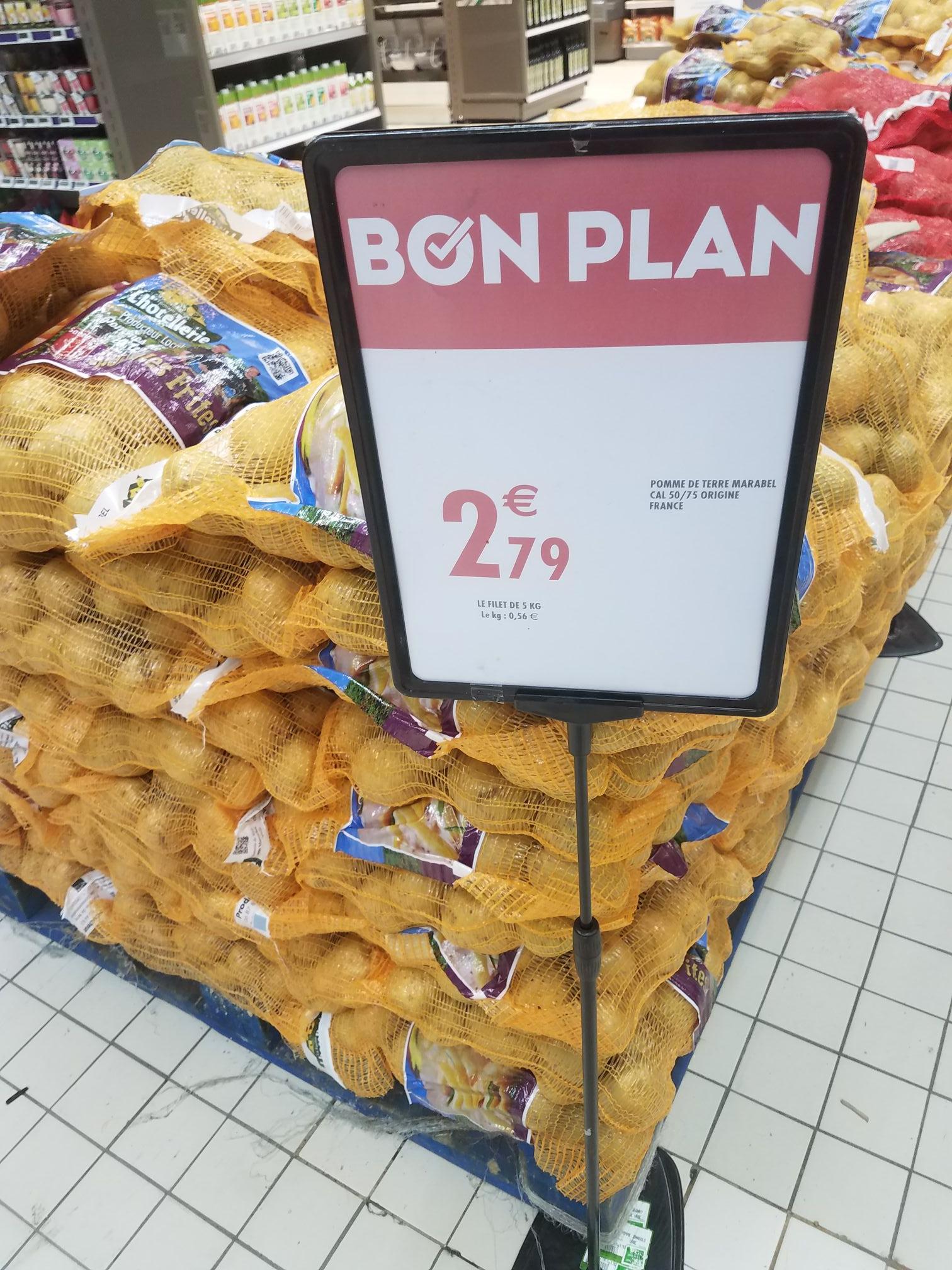 5kg de Pomme de terre marabel cal 50/75 - Origine France - Fourmies (59)