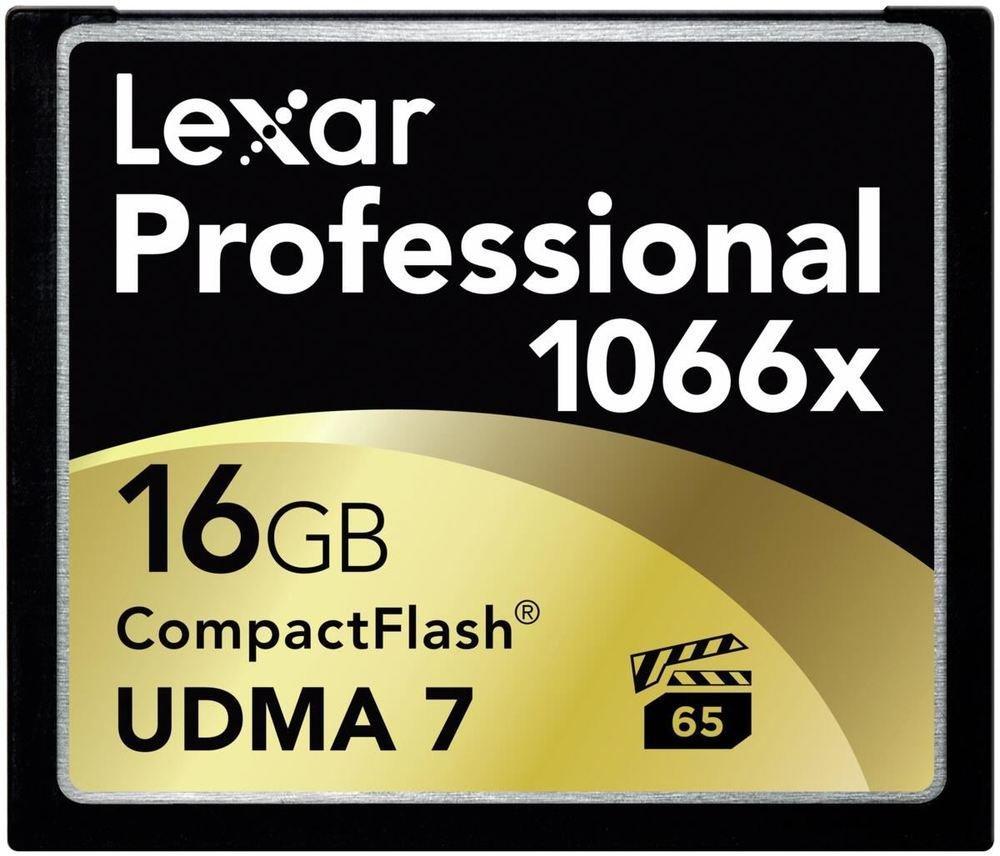 (Grande) Carte mémoire CompactFlash Lexar Professional UDMA 7 1066x - 16 Go