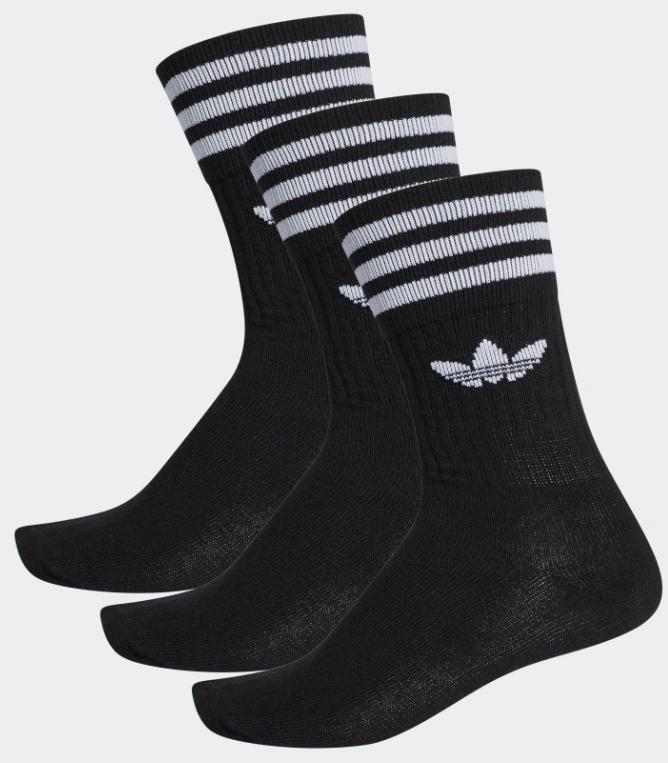 3 paires de Chaussettes mi-mollet Adidas - Taille au Choix