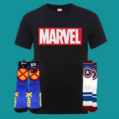 Sélection de T-Shirts Marvel (du S au XXL) + 2 paires de chaussettes Captain America & X-Men offertes + livraison gratuite