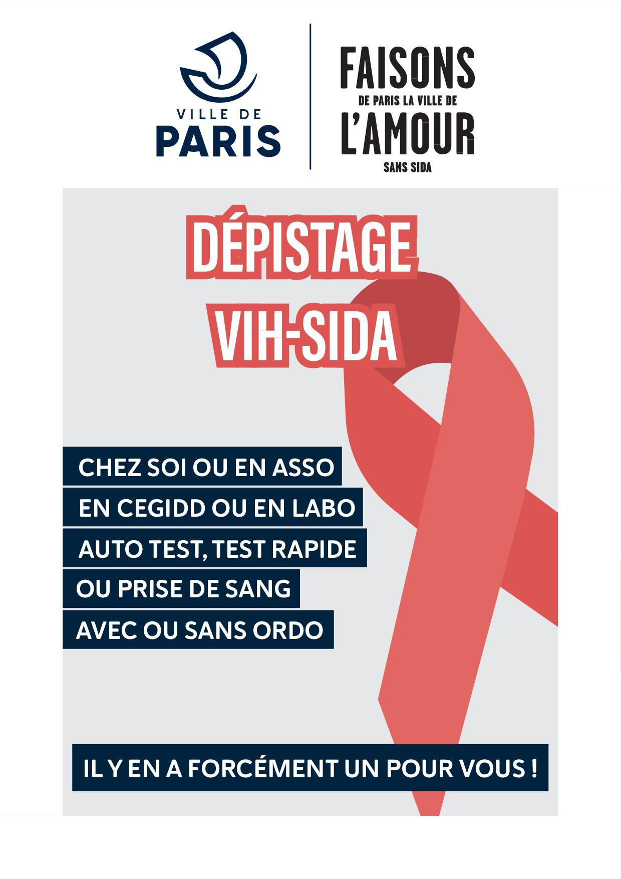 Distribution gratuite de préservatifs et tests de dépistage du VIH - Paris (75)
