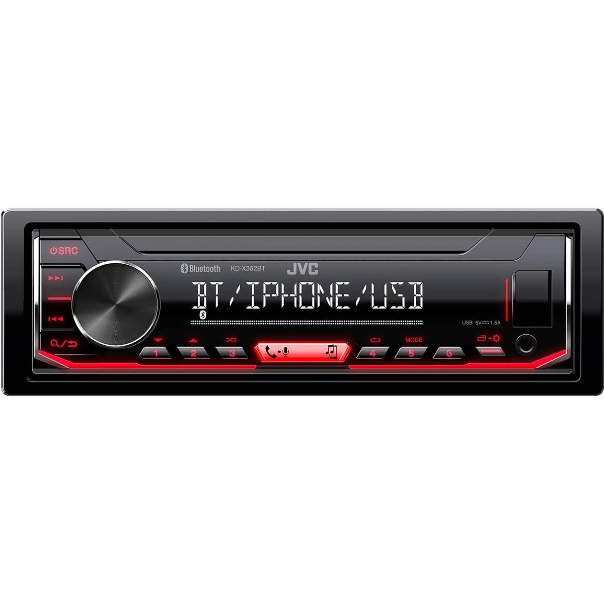 Autoradio JVC KD-X362BT - Bluetooth, sans cd (Via ODR de 30€)