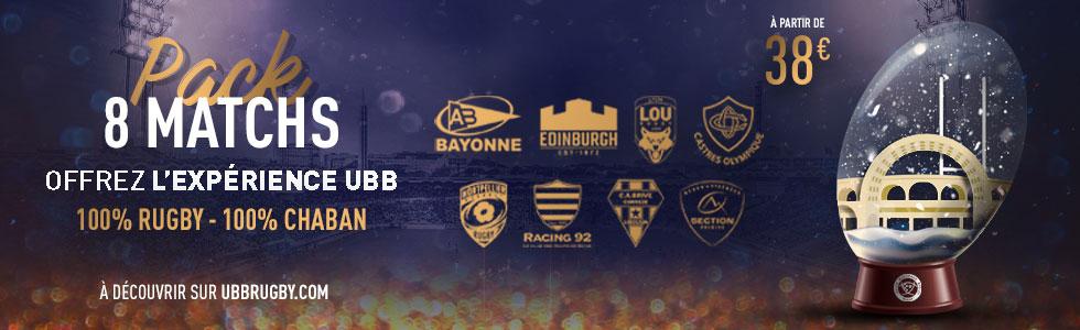 Pack mi saison 2019-2020 : Rugby TOP 14 - Union Bordeaux Bègles