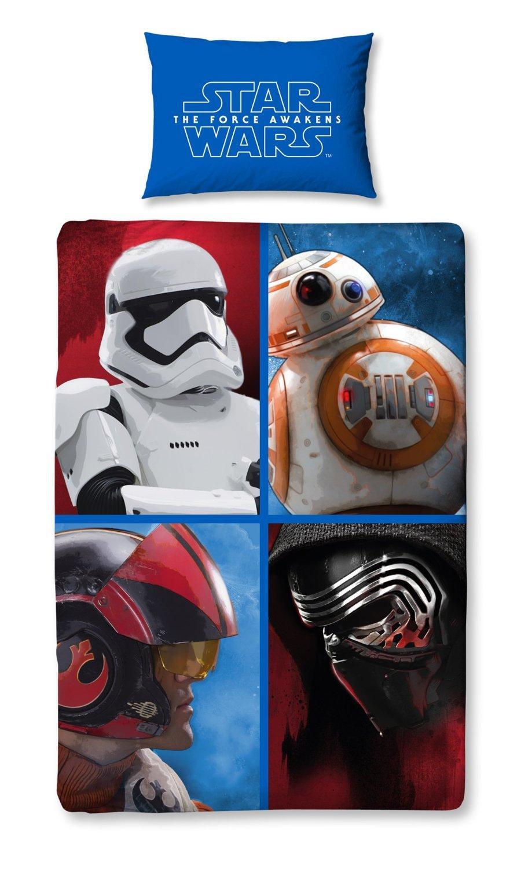 Housses de Couette Star Wars 140 x 200 + Taie d'Oreiller 63x63cm - 4 modèles au choix