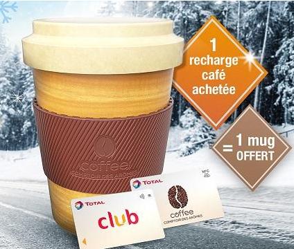 1 Recharge café de plus de 20€ achetée = 1 Mug offert
