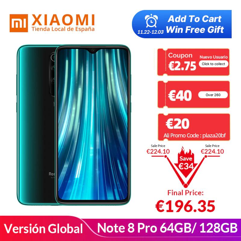 "[Provenance Espagne] Smartphone 6.53"" Xiaomi Redmi Note 8 Pro - 6 Go de Ram, 128 Go + Mi Band 4 (197.06€ avec le code 30FRBF)"