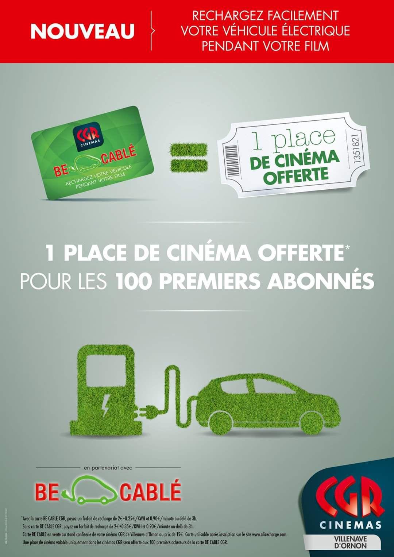 [Carte Be Cablé] Une place de ciné offerte pour 100 premiers abonnés - Villenave-d'Ornon (33)