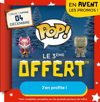 Lot de 2 figurines Funko Pop! achetées = 1 figurine offerte (la moins chère)